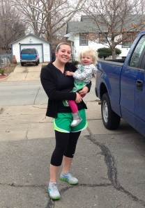 E and I after the race!