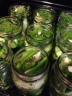 9 jars of pickles, all in a row!